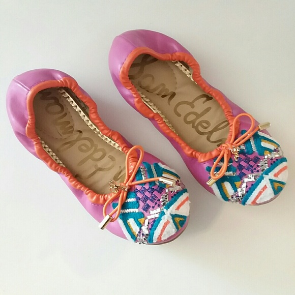 6069c7a3303a49 Sam Edelman Girls Felecia Embroidered Flats